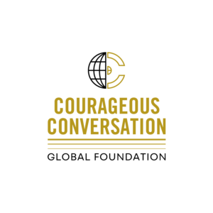Courageous Conversation Global Foundation Logo Black+Gold